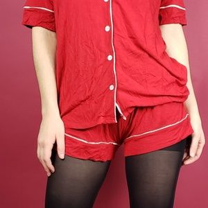 Adore Me bright red shorts size S